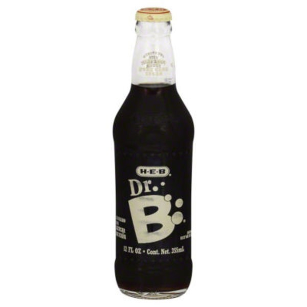 H-E-B Dr. B Soda in Glass Bottle