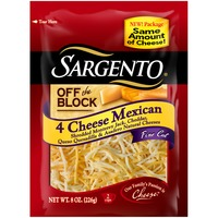 Sargento® Off The Block 4 Cheese Mexican Fine Cut Shredded Cheese