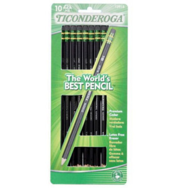 Ticonderoga Noir Pencils, Sharpened, No. 2 HB