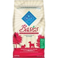 Blue Buffalo Basics Limited Ingredient Formula Salmon & Potato Adult Dry Dog Food 24 Lbs.