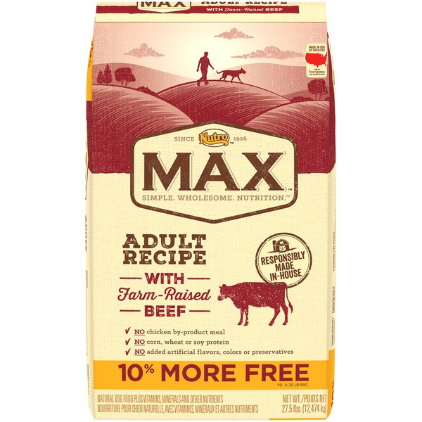 Nutro Max Adult Recipe with Farm-Raised Beef Dog Food
