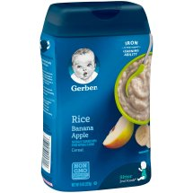 Gerber Rice and Banana Apple Baby Cereal, 8 oz