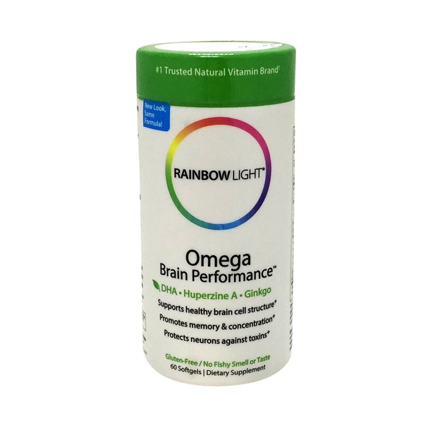 Rainbow Light Omega Brain Performance, Fish Gel Softgels