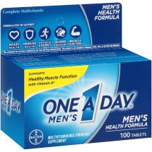 One A Day Men's Health Formula Multivitamin Tablets, 100 Count