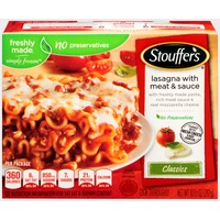 Stouffer's Classics Freshly made pasta, rich meat sauce and Real Mozzarella cheese Lasagna with Meat & Sauce