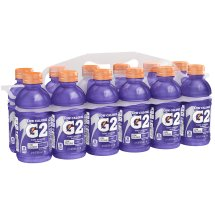 G2 Thirst Quencher Low Calorie Sports Drink, Grape, 12 Fl Oz, 12 Count