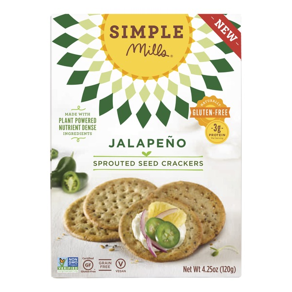 Simple Mills Jalapeno Sprouted Seed Crackers