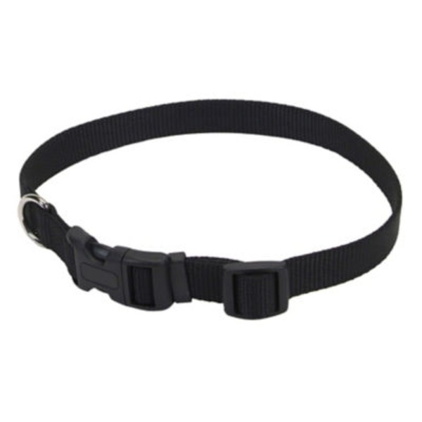 Coastal Pet Black Adjustable Nylon Collar