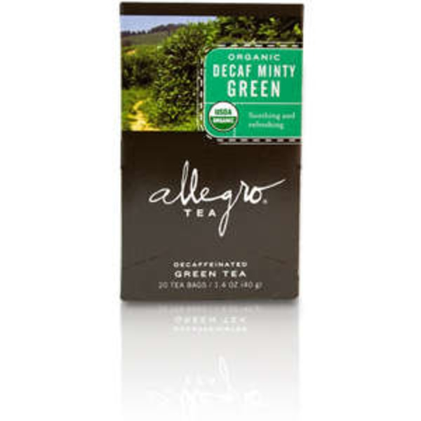 Allegro Organic Decaf Minty Green Tea Bags