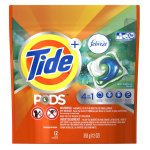 Tide PODS Plus Febreze Laundry Detergent Pacs, Botanical Rain Scent, 12 count, Designed For Regular and HE Washers