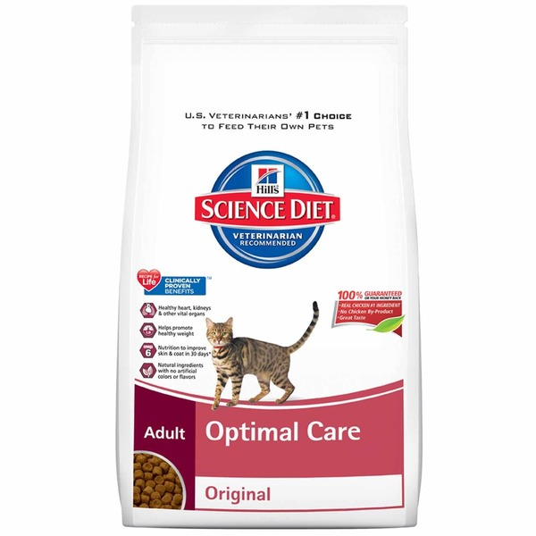 Hill's Science Diet Optimal Care Cat Food, Chicken Recipe