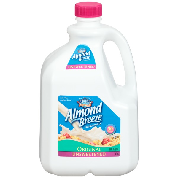 Almond Breeze Unsweetened Original Almond Milk Non Dairy Milk Alternative