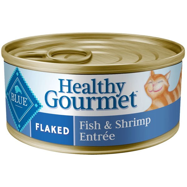 Blue Buffalo Cat Food, Moist, Healthy Gourmet, Flaked, Fish & Shrimp Entree, Can