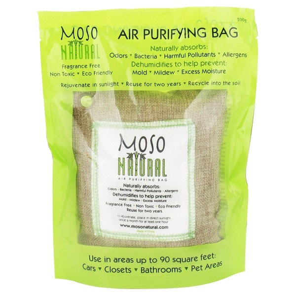 Moso Natural Bag Air Purifying Natural 200 Gram Green