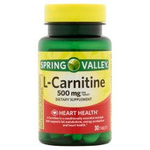 Spring Valley L-Carnitine 500mg Tablets, 30 Ct