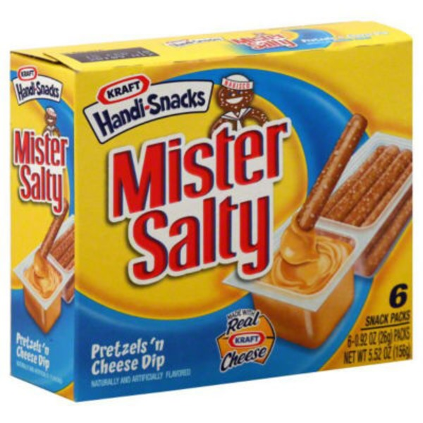 Nabisco Handi Snacks Mister Salty Pretzels 'n Cheese Dip