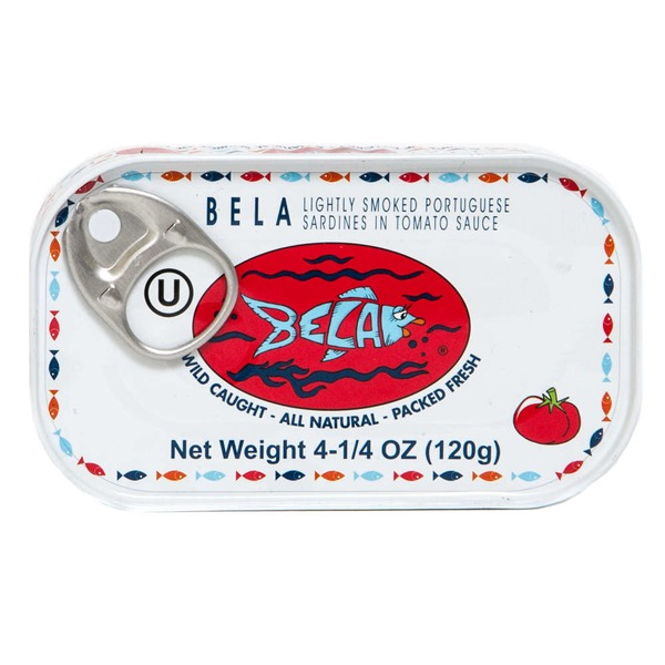 Bela Light Smoked Portuguese Sardines in Tomato Sauce