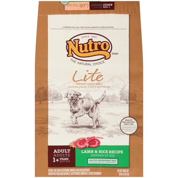 Nutro Healthy Weight Pasture-Fed Lamb & Rice Recipe Adult Dog Food