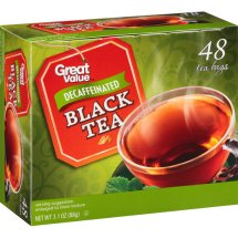 Great Value Decaf Black Tea Bags, 3.1 oz, 48 Count