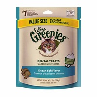Feline Greenies Dental Ocean Fish Flavor Cat Treats