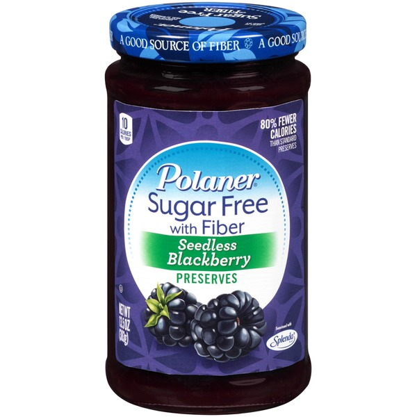 Polaner Seedless Blackberry Sugar Free with Fiber Preserves