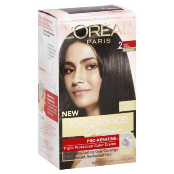 Excellence Creme Triple Protection 2 Natural Soft Black Hair Color
