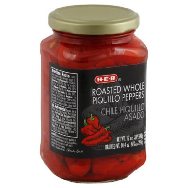 H-E-B Roasted Whole Piquillo Peppers