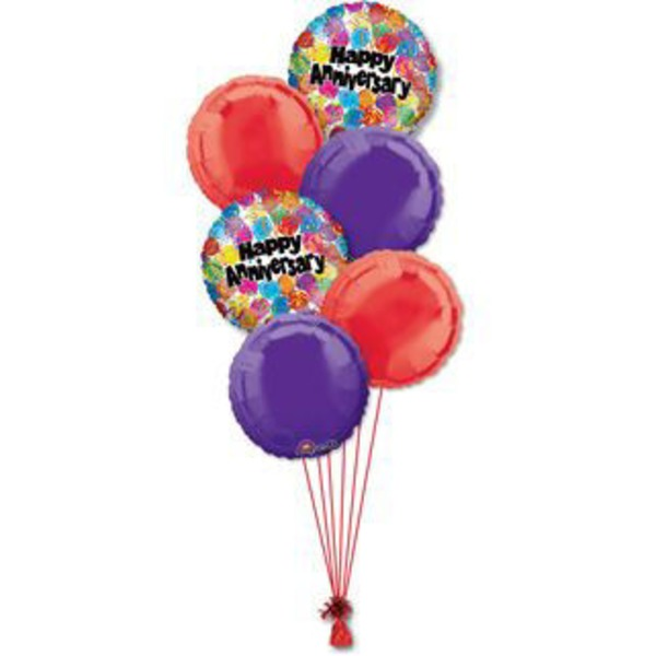 Happy Birthday Half Dozen Balloon Bouquet