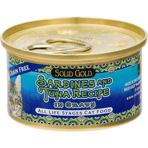 Solid Gold Grain Free Sardines & Tuna In Gravy Canned Cat Food 3 Oz.