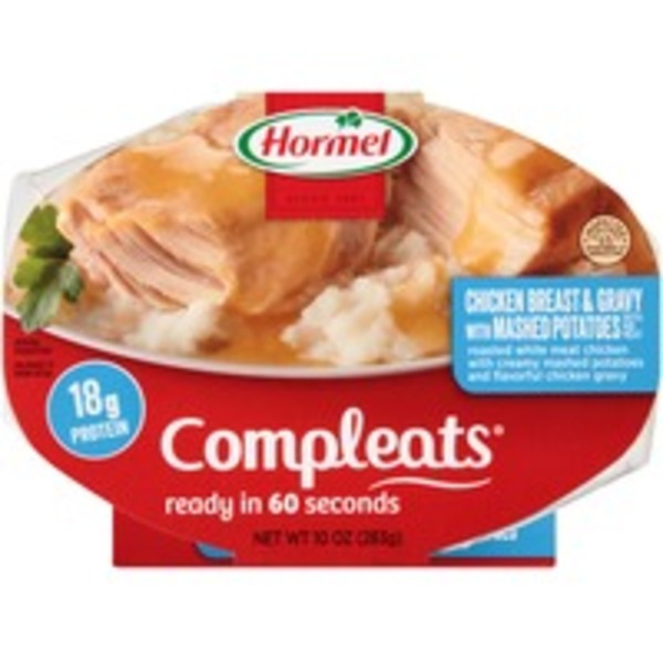 Hormel Chicken Breast & Gravy with Mashed Potatoes Compleats