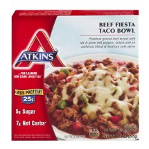 Atkins Beef Fiesta Taco Bowl Frozen Meal, 8.5 oz