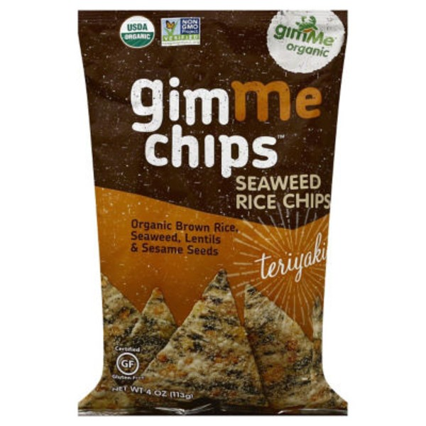 gimMe Organic Seaweed Chips with Brown Rice Teriyaki