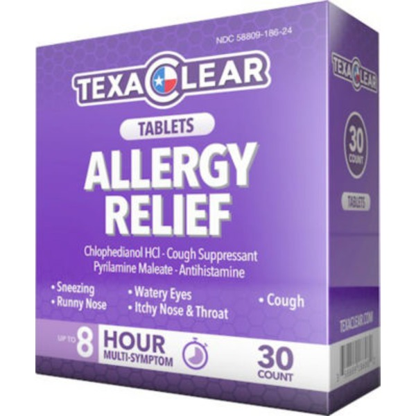 Texa Clear Multi Symptom Allergy Relief Tablets