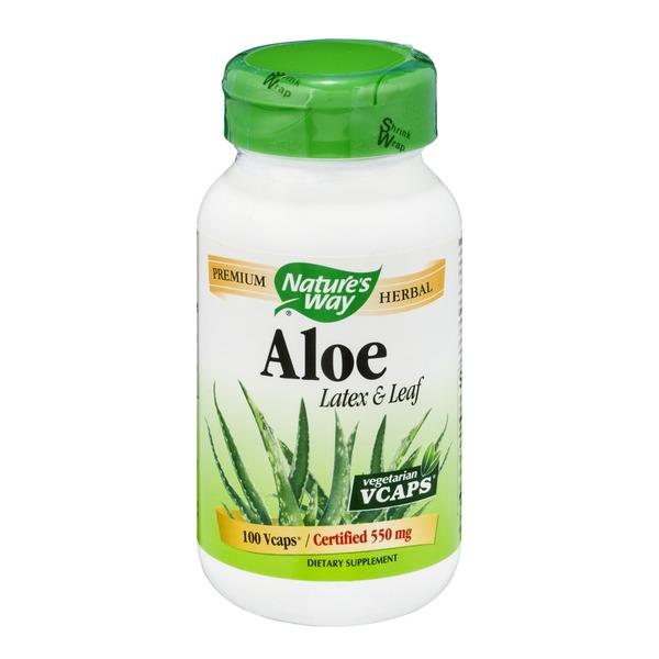 Nature's Way Aloe Latex & Leaf 550mg Vcaps - 100 CT