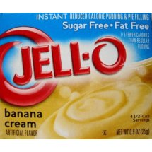Jell-O Instant Pudding & Pie Filling Sugar Free Fat Free Banana Cream, 0.9 Oz