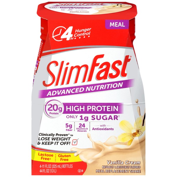 Slimfast Advanced Nutrition Vanilla Cream Meal Replacement Shakes