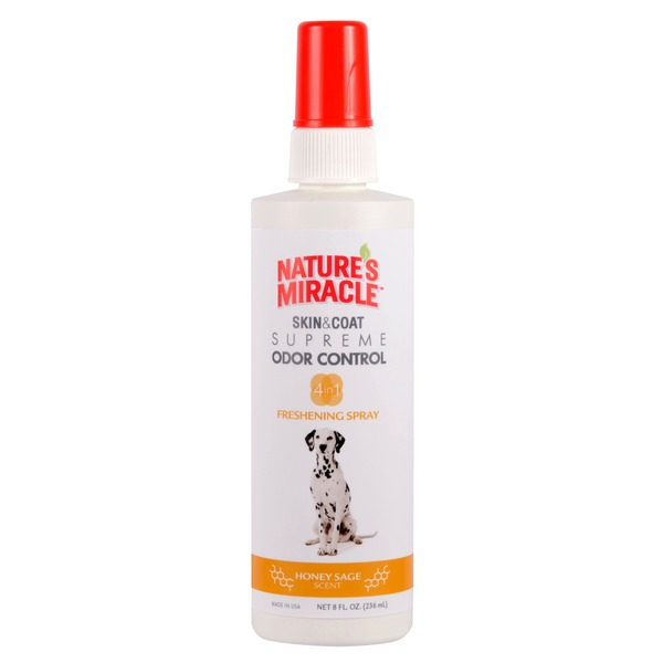 Nature's Miracle Supreme Odor Control Dog Freshening Spray Honey Sage Scent 8 Fl. Oz.