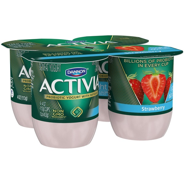 Activia Light Light Strawberry Nonfat Probiotic Yogurt
