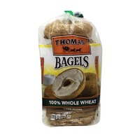Thomas Hearty Grains 100% Whole Wheat Pre-Sliced Bagels