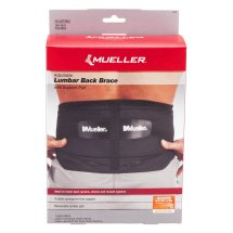 Mueller Lumbar Back Brace With Support Pad Adjustable, 1.0 CT