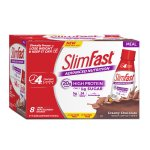 SlimFast Advanced Ready to Drink Meal Replacement Shake, Creamy Milk Chocolate, 11 Oz, 8 Ct