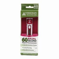 Veridian Healthcare 60 Basal Second Digital Thermometer