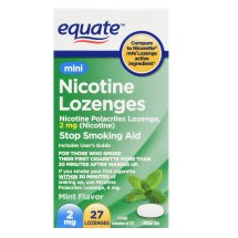 Equate Mini Nicotine Lozenges, Mint Flavor, 2 mg, 27 Count