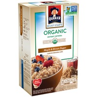 Quaker Oatmeal Select Starts Organic Maple & Brown Sugar Instant Oatmeal