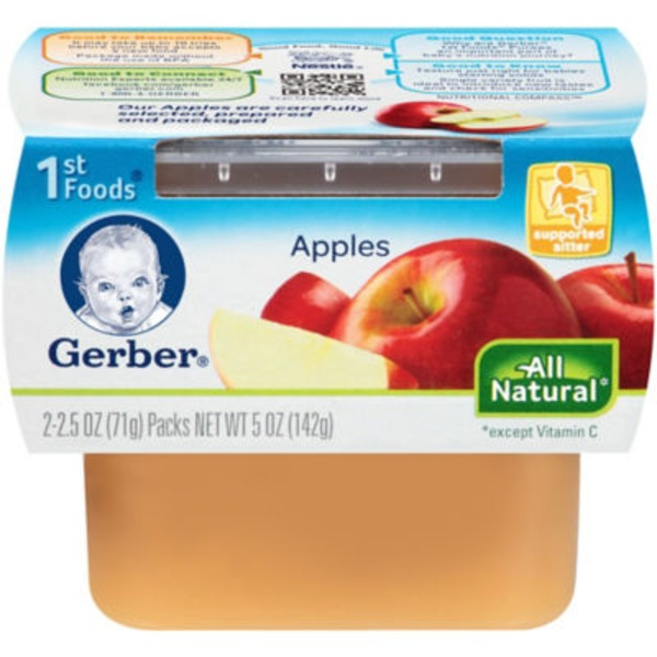 Gerber 1st Foods Apples Purees-Fruit