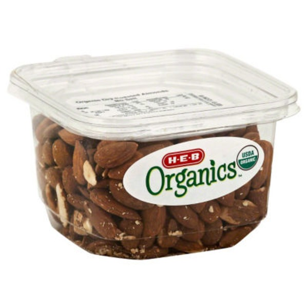 H-E-B Organics Dry Roasted Almonds Unsalted