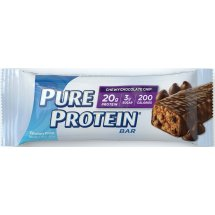 Pure Protein Bar, 20 Grams of Protein, Chewy Chocolate Chip, 1.76 Oz, 6 Ct