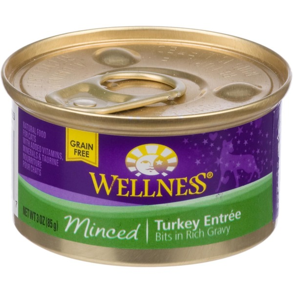 Wellness Minced Turkey Entree Cat Food