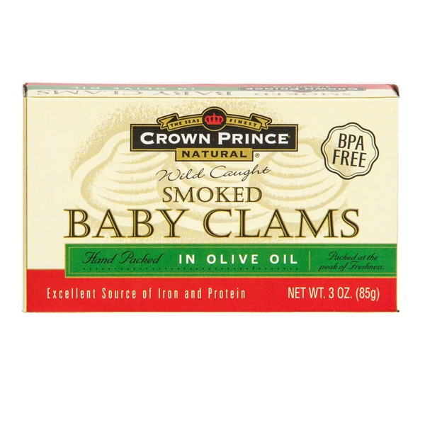 Crown Prince Natural Smoked Baby Clams In Olive Oil