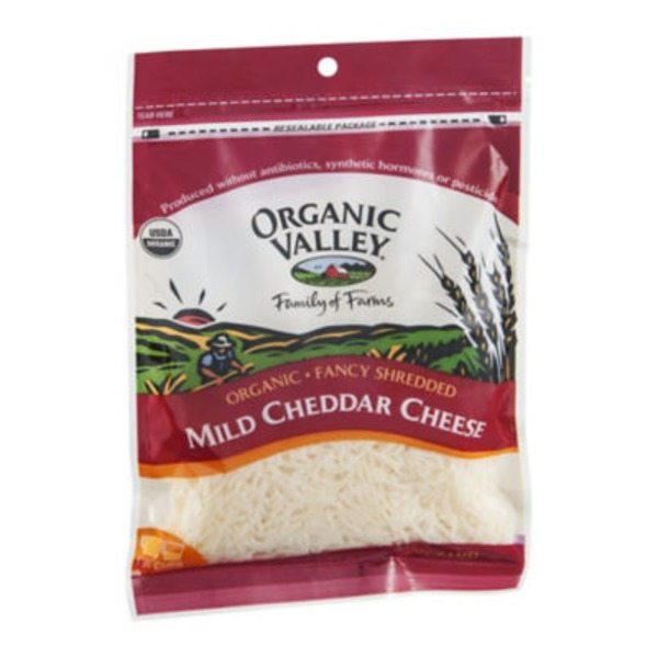 Organic Valley Mild Cheddar Fancy Shredded Cheese